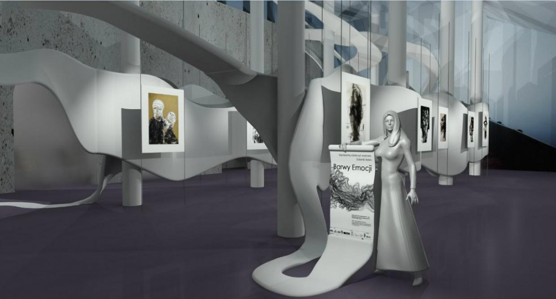 Музей-галерея в 3d max mental ray изображение