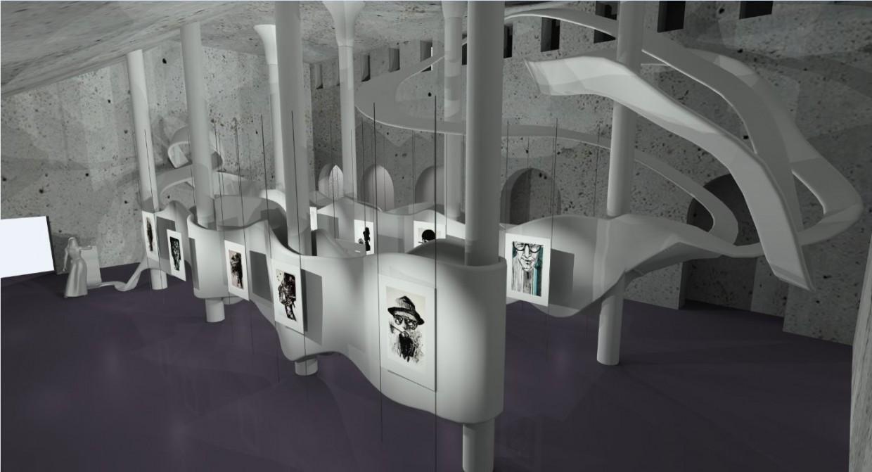 Музей-галерея в 3d max mental ray зображення