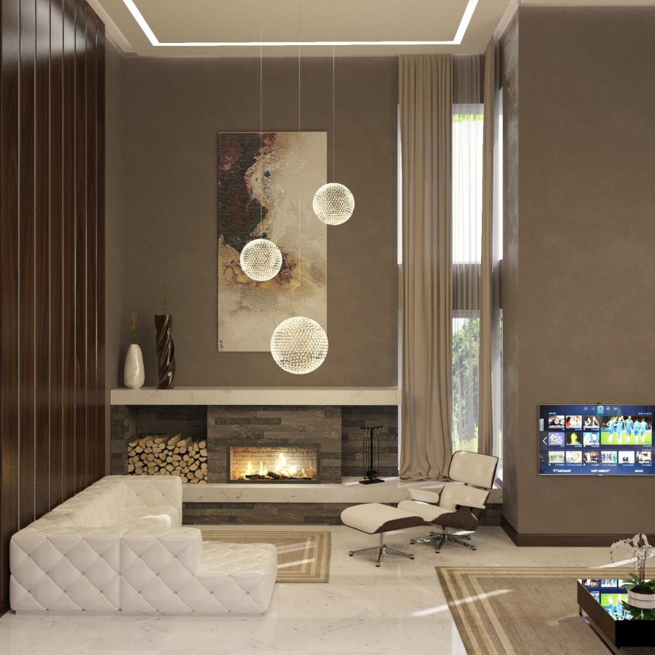 Hall (Borispol) in 3d max corona render image