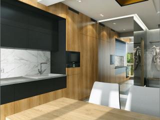 Kiev bir odalı daire için iç tasarım projesi