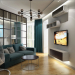 Interior design project for a one-room apartment in Kiev in 3d max vray 1.5 image