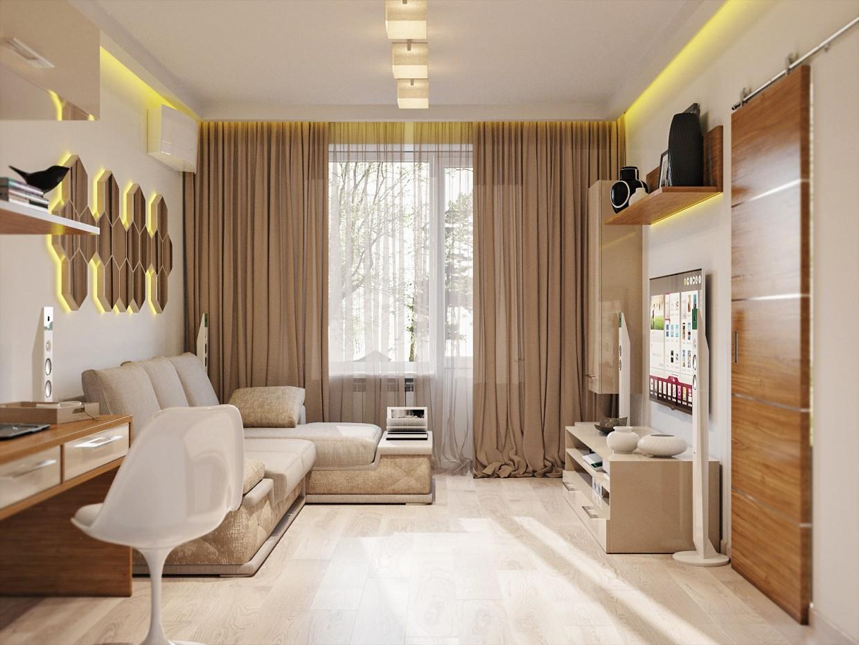 Комната + Кухня (Борисполь) в 3d max corona render изображение