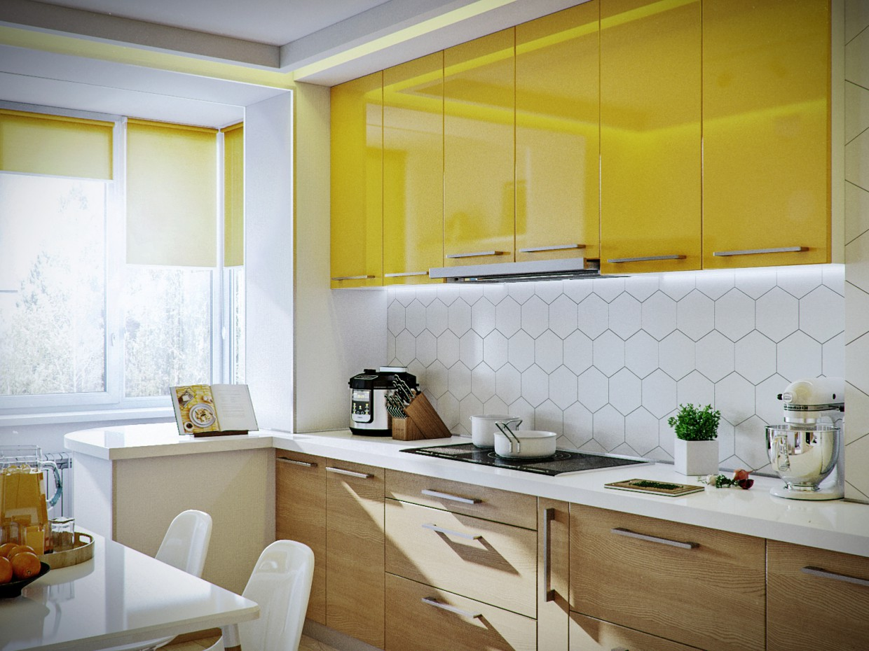 Room + Kitchen (Borispol) in 3d max corona render image