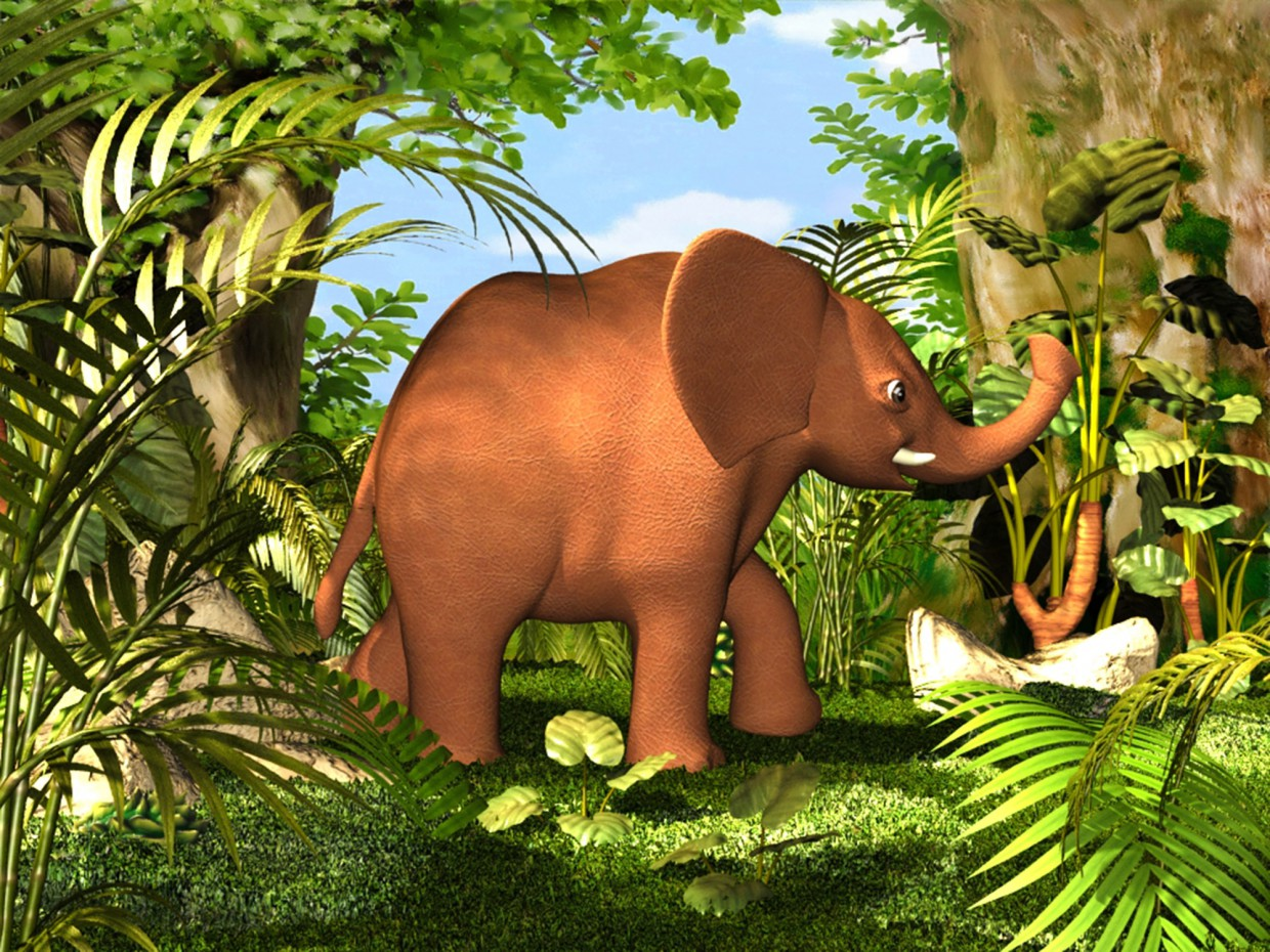 Baby elephant in 3d max vray 3.0 image
