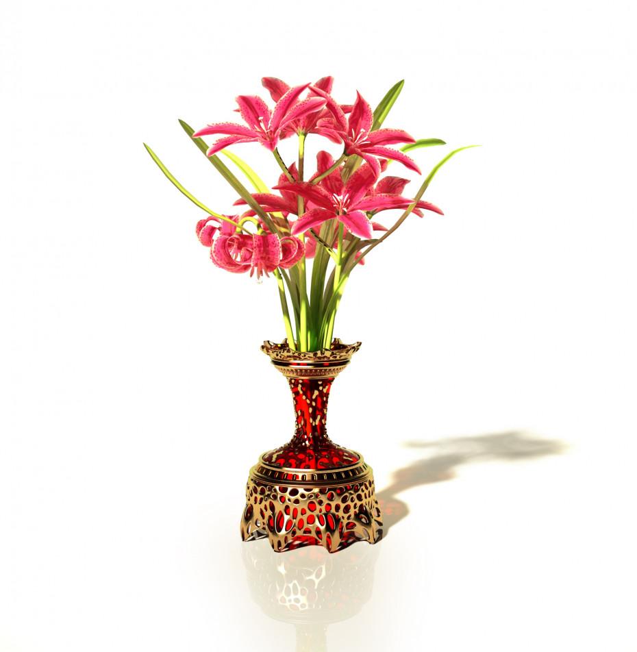 Vase in 3d max vray 3.0 image
