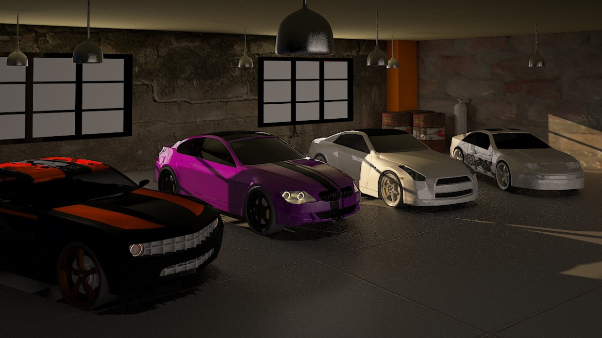 Garage in 3d max vray 3.0 image