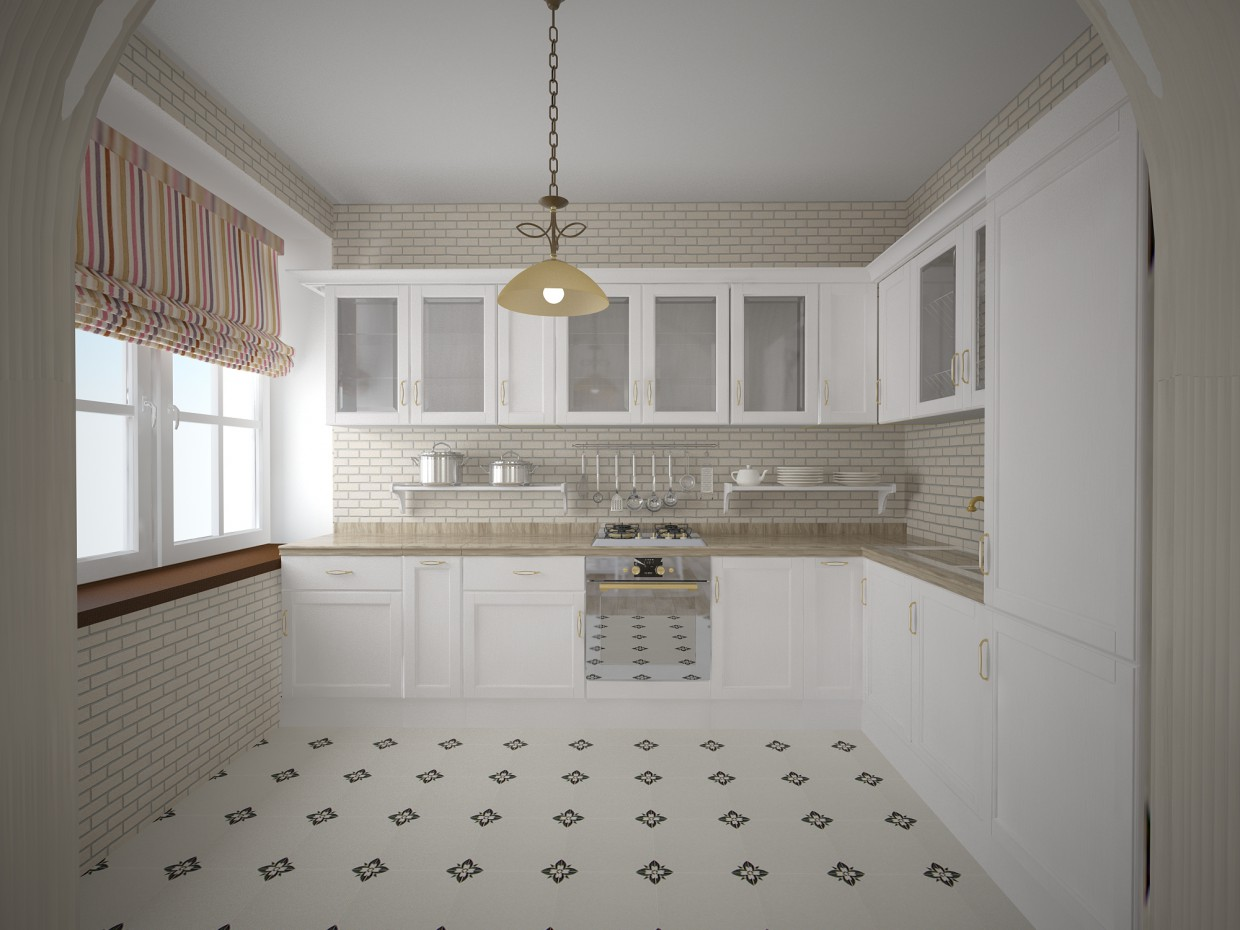 Scandinavian style interior in 3d max vray image