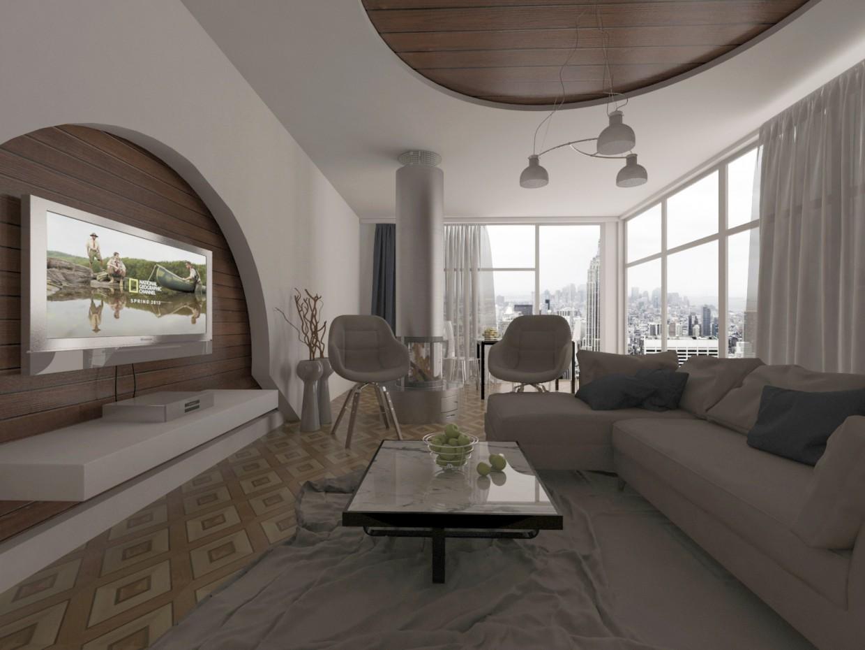 3d визуализация проекта гостиная в 3d max, рендер vray от meghdad.07