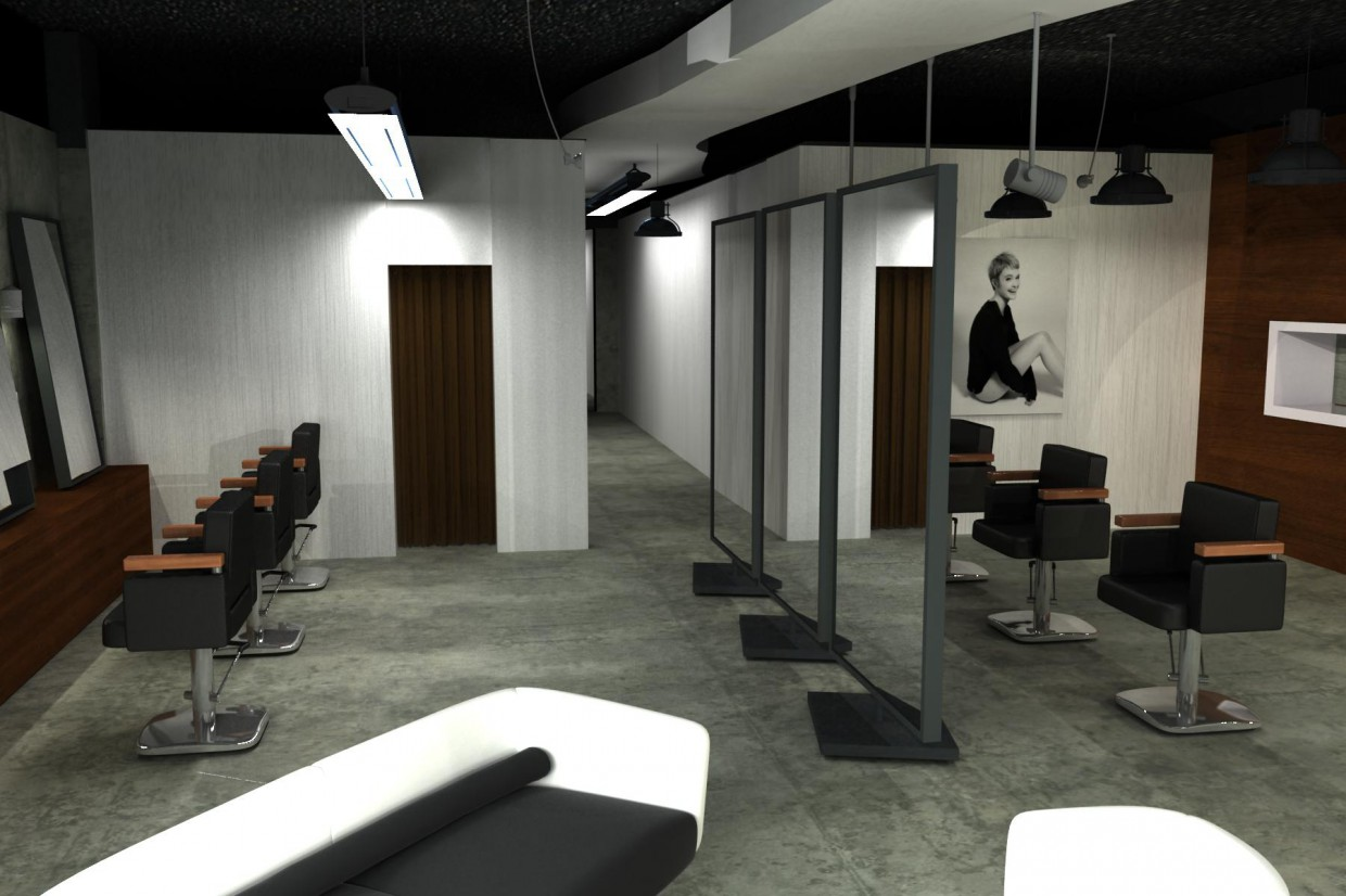 Beauty salon in 3d max vray image