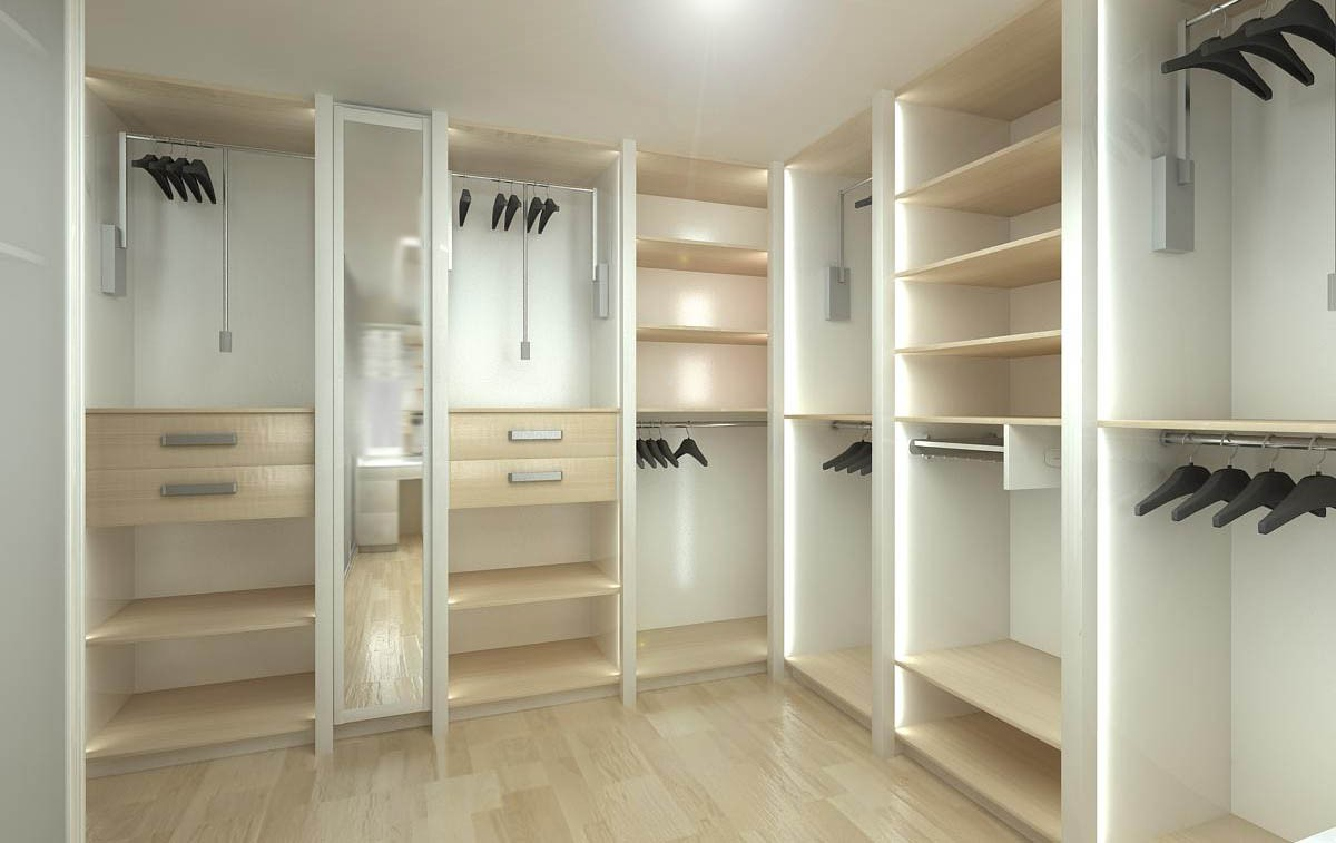 Wardrobe room in 3d max vray image