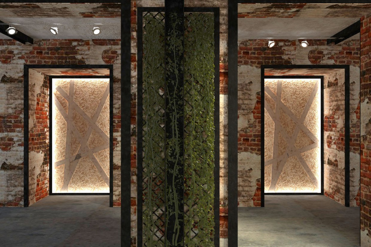 Space in the Loft in 3d max vray 2.0 image