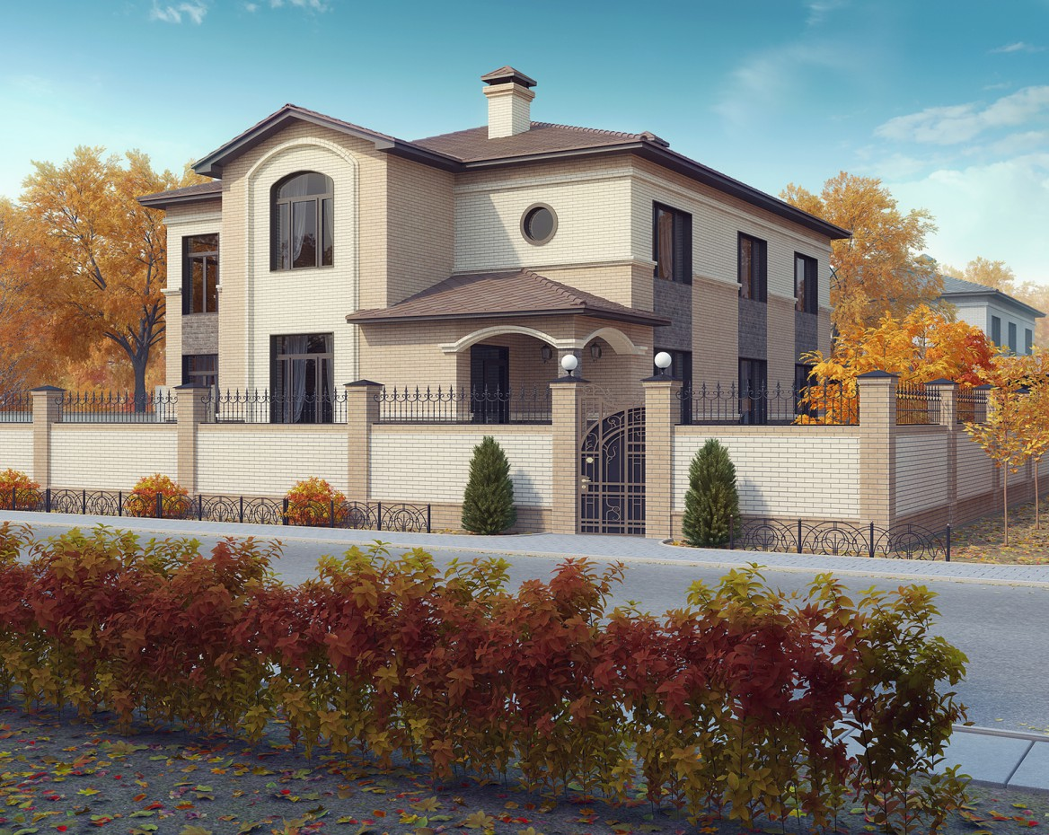 Проект приватного будинку в 3d max vray зображення