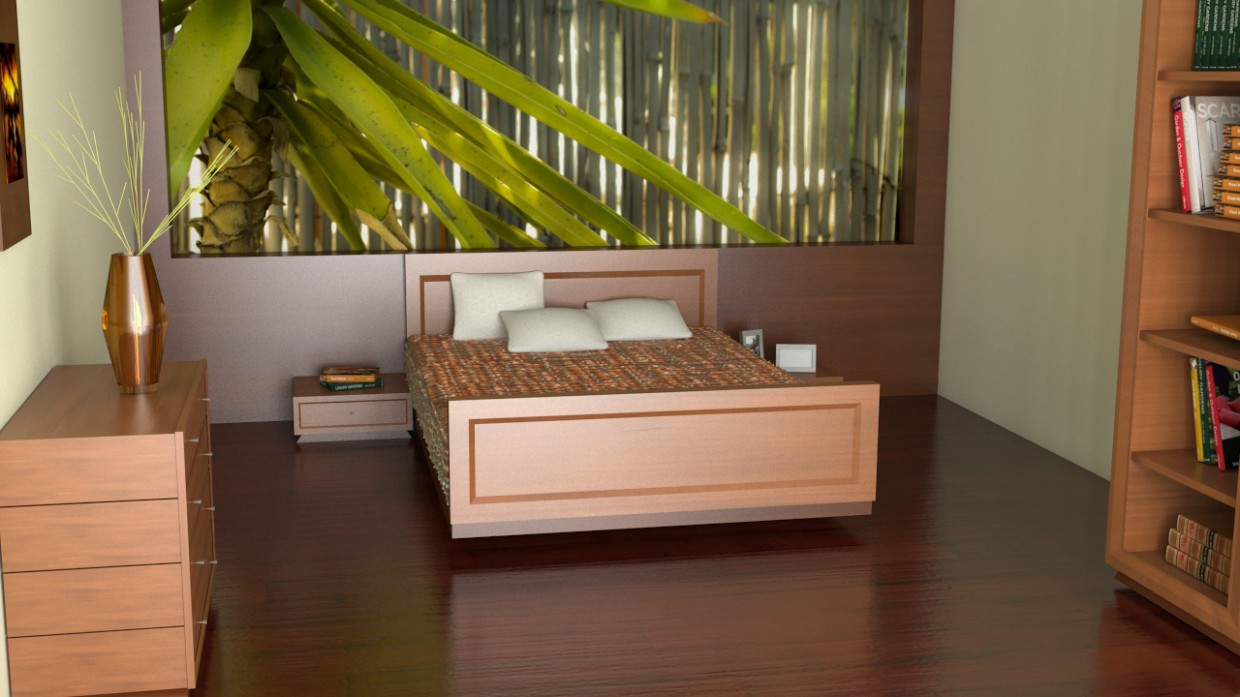 bedroom by_TRS in 3d max vray 2.5 image