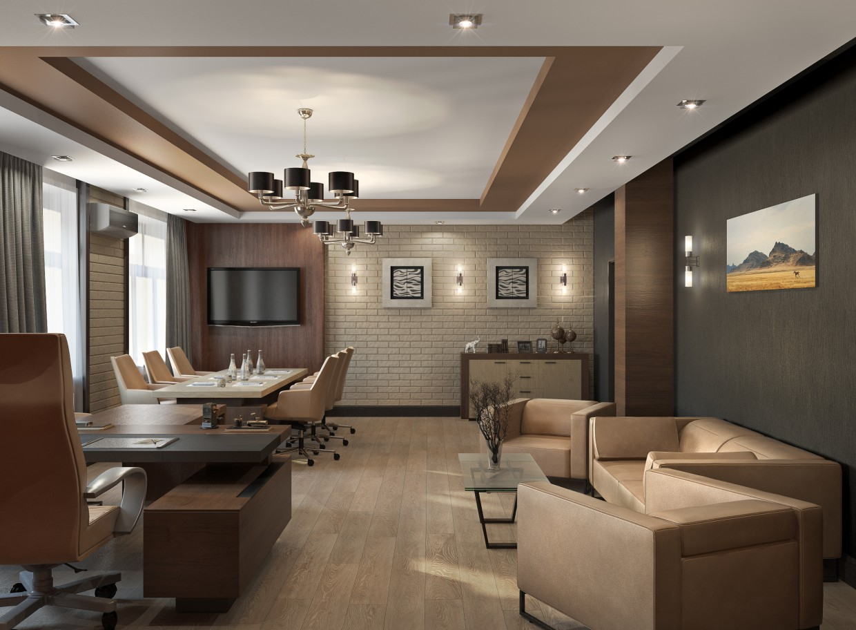 Director's Office in 3d max vray image