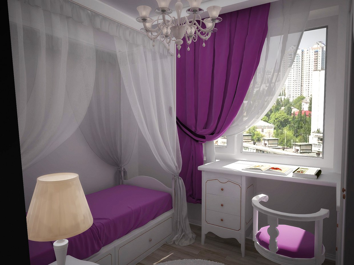 Room for a girl in 3d max vray image