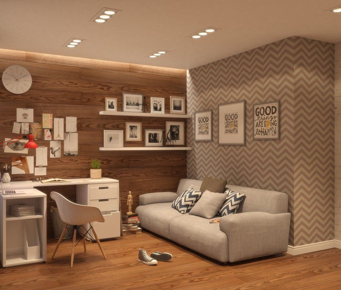 Room for a teenager in 3d max vray image