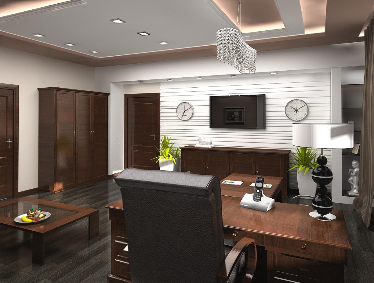 Проект кабінету в 3d max vray зображення
