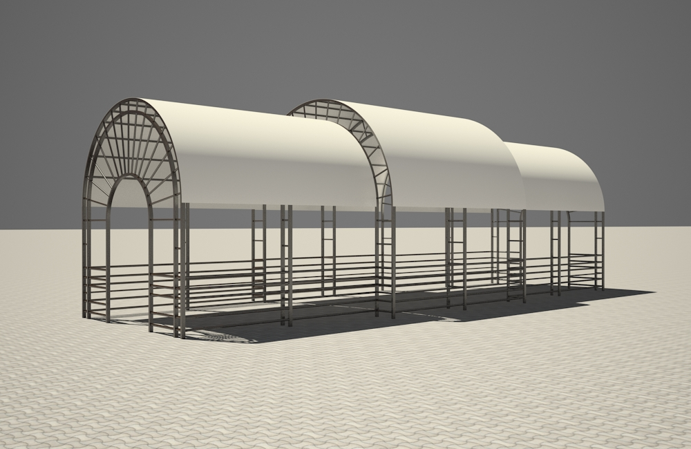 Summer Playground in 3d max vray 2.5 image