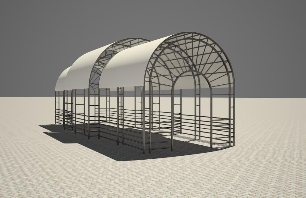 3d візуалізація проекту Літній майданчик в 3d max, рендер vray 2.5 від inna_s