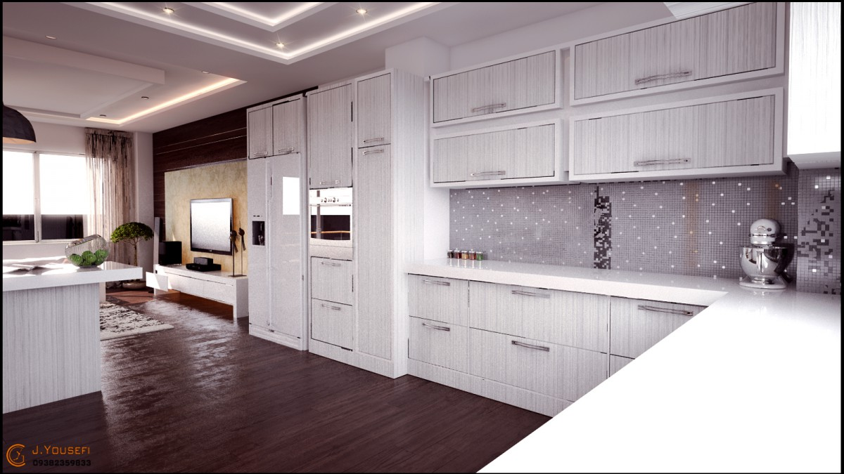 Interior Design Mr.Hamedi in 3d max vray image