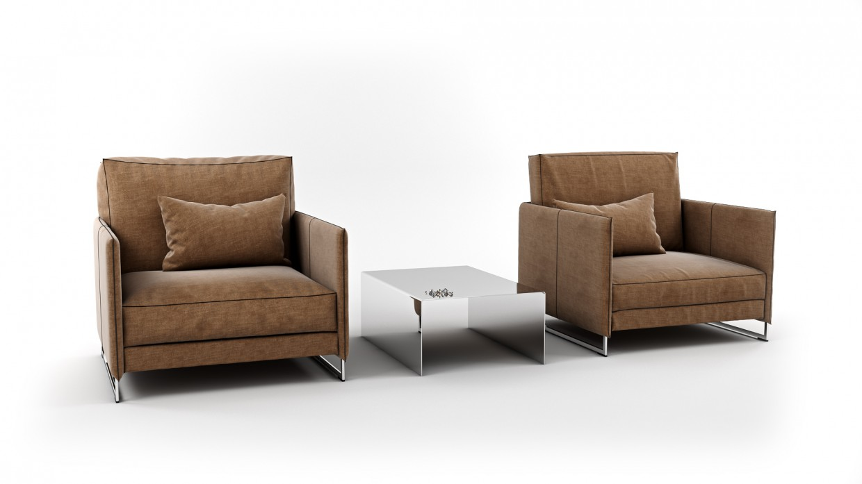 3d visualization of the project in the Armchair 3d max, render vray 3.0 of Pavel Zazulin