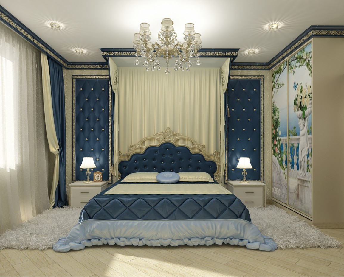 3d visualization of the project in the bedroom 3d max, render vray of Расима Гайфутдинова