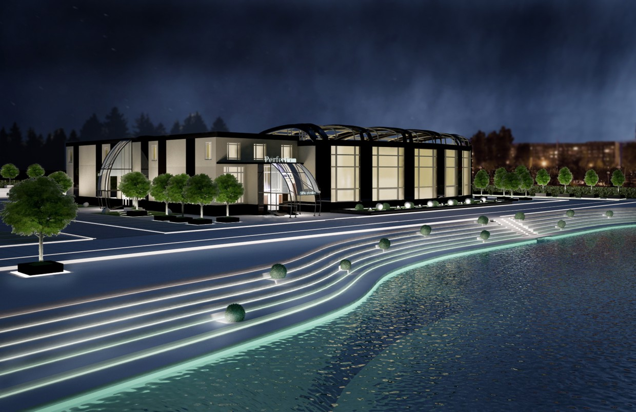 3d visualization of the project in the SPA complex 3d max, render vray of irina 19922708