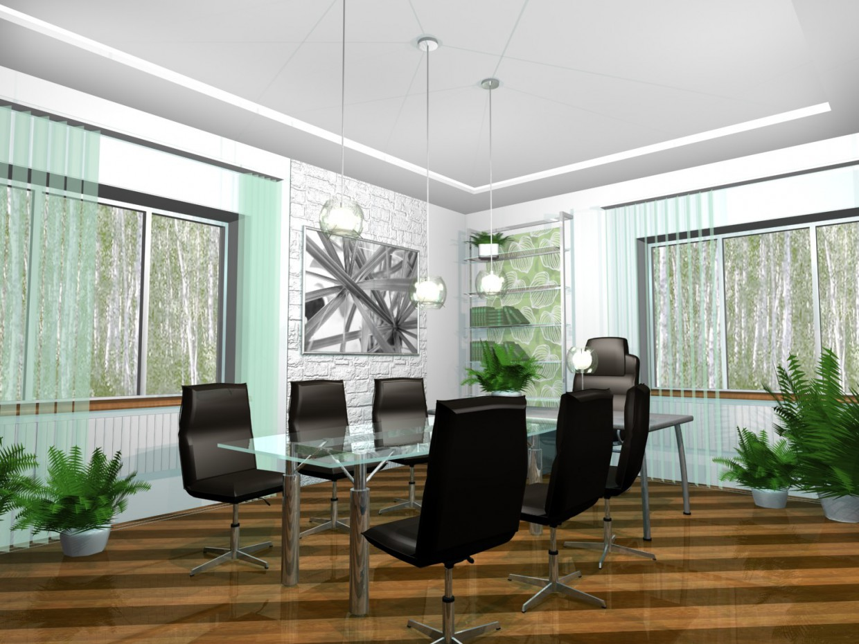 3d visualization of the project in the Head office 3d max, render mental ray of Kateryna-K