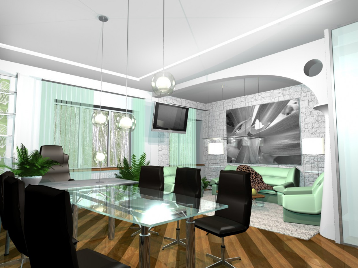 Head office in 3d max mental ray image