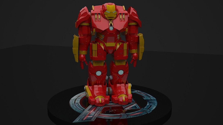 imagen de Hulkbuster en 3d max vray 3.0