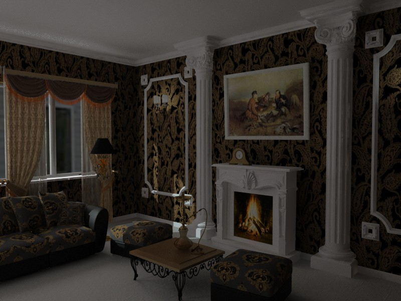 first project in 3d max vray image