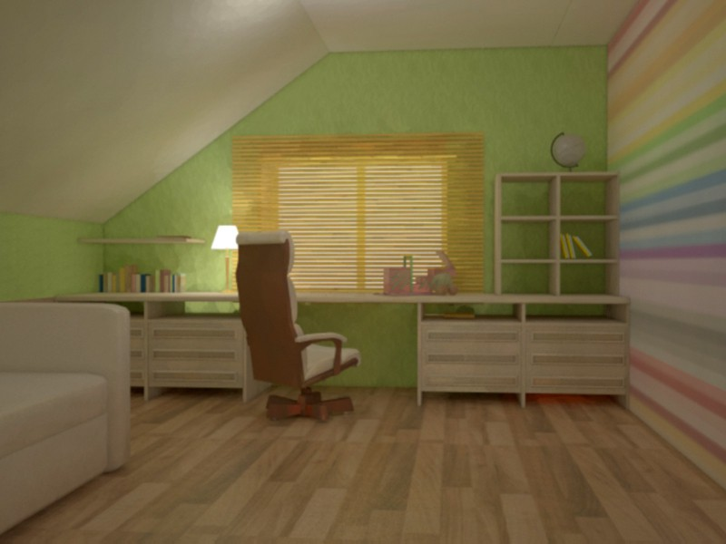 Small office room in 3d max vray image