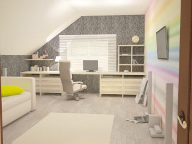 imagen de Sala de oficina pequeña en 3d max vray
