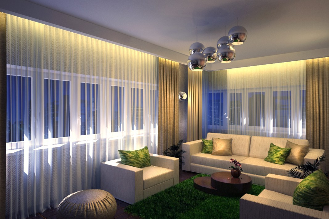 Living Ecostyle in 3d max vray image