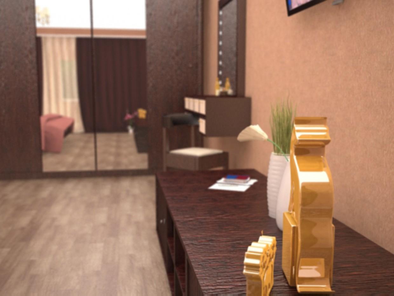 imagen de dormitorio, cocina en 3d max vray