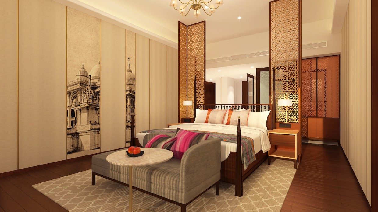 King Room - Neo Classical Hotel & Hospitality in 3d max vray 3.0 image