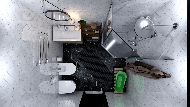 Crisis center in 3d max corona render image