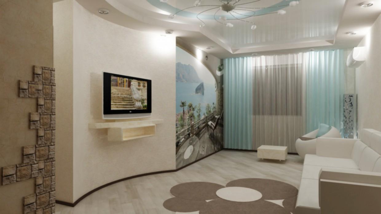 Дизайн гостиной в 3d max vray изображение