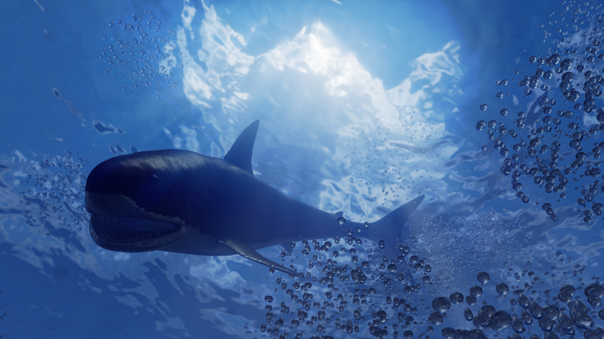 shark in Blender cycles render image