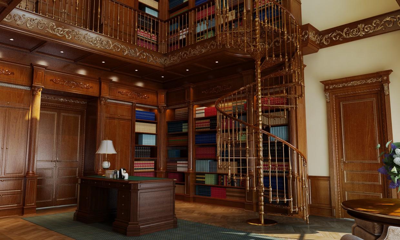 Библиотека в 3d max vray изображение