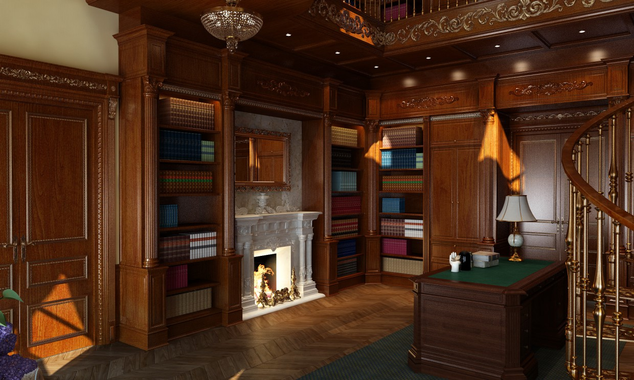 Library in 3d max vray image