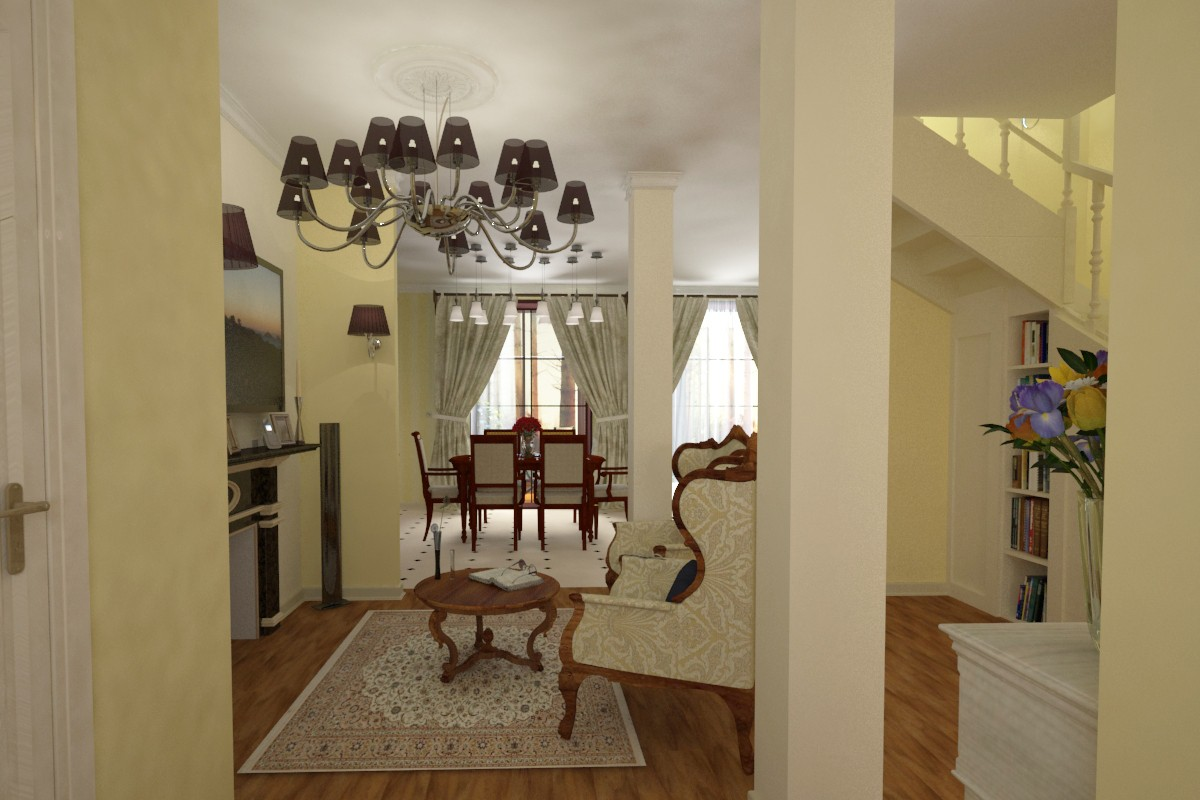 In house in 3d max vray image