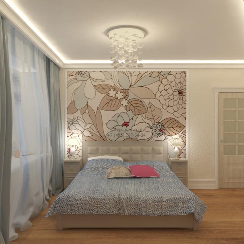 спальня в 3d max vray изображение