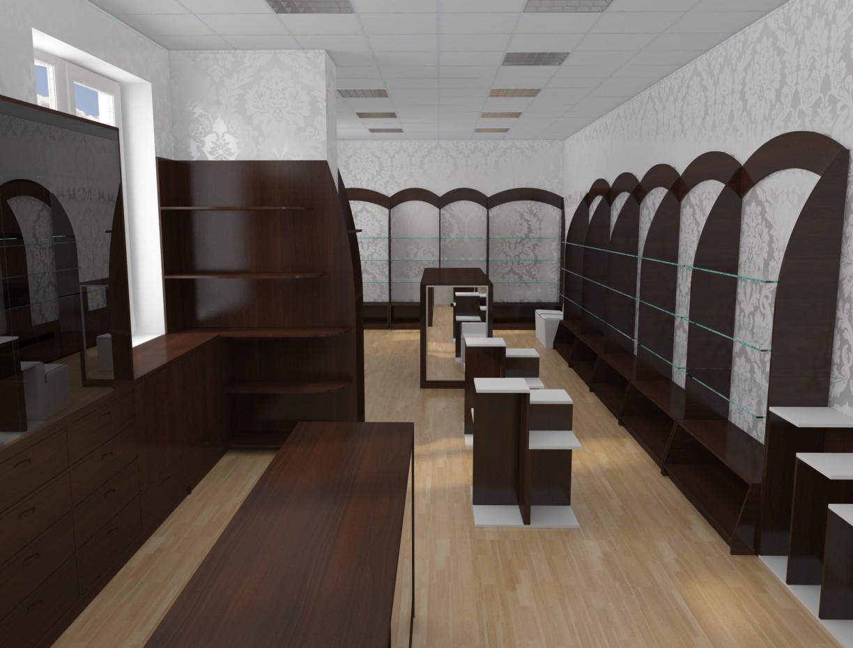 Взуттєвий магазин в 3d max vray зображення