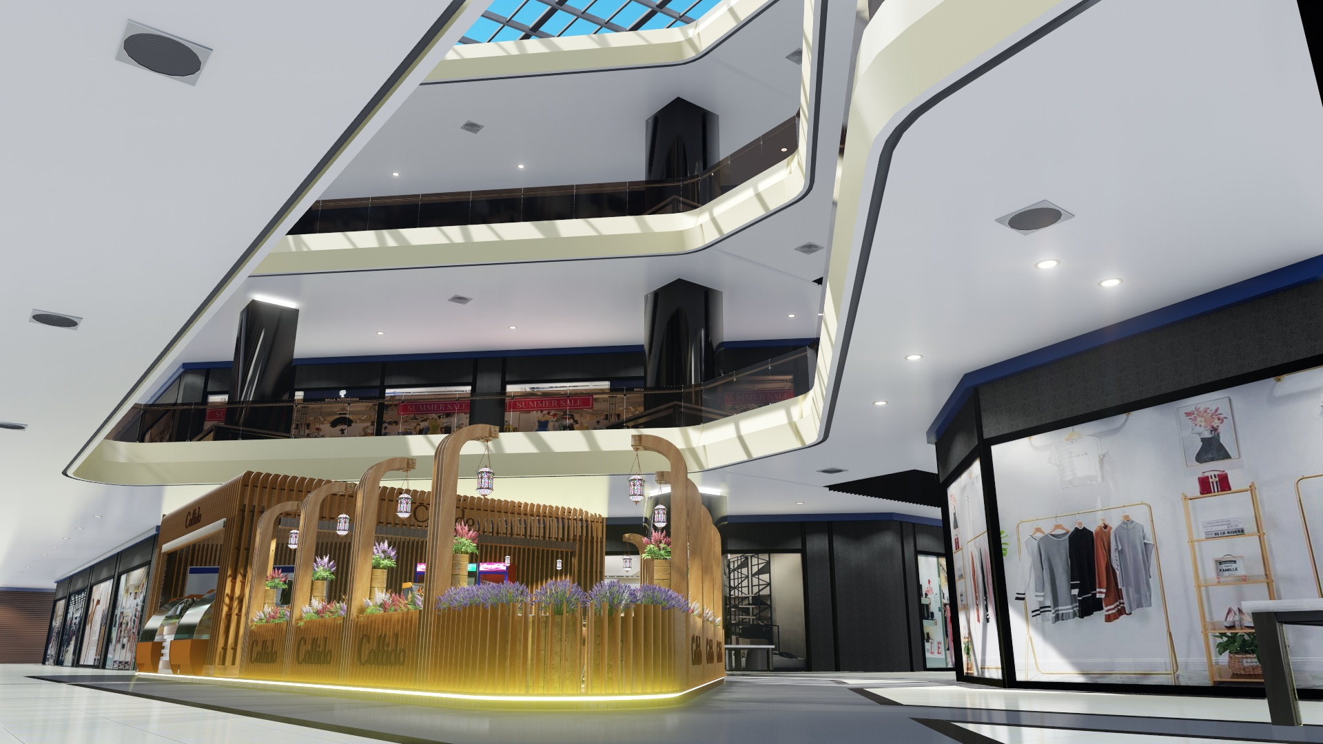 3D Video presentation of the Coffido coffee shop in the next shopping and entertainment center. (Video attached) in Cinema 4d Other image