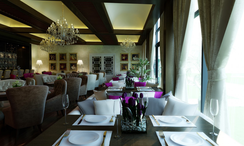 imagen de Restaurante en 3d max vray