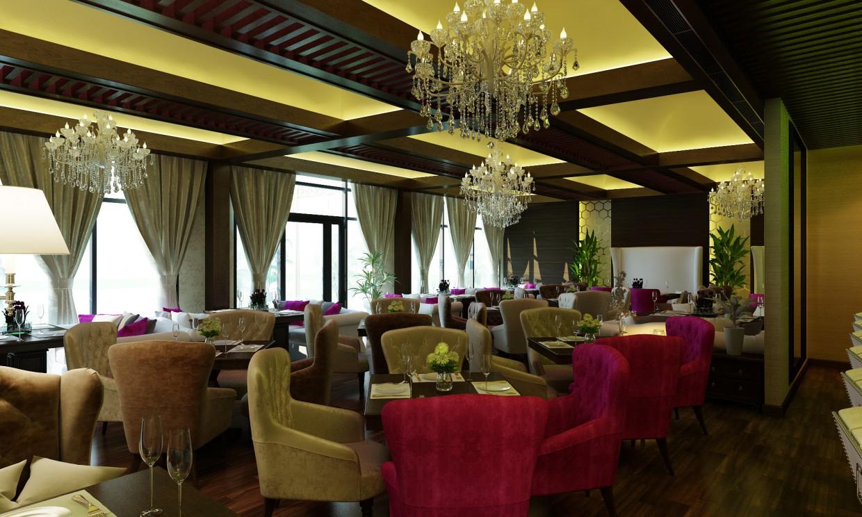 Ресторан в 3d max vray изображение