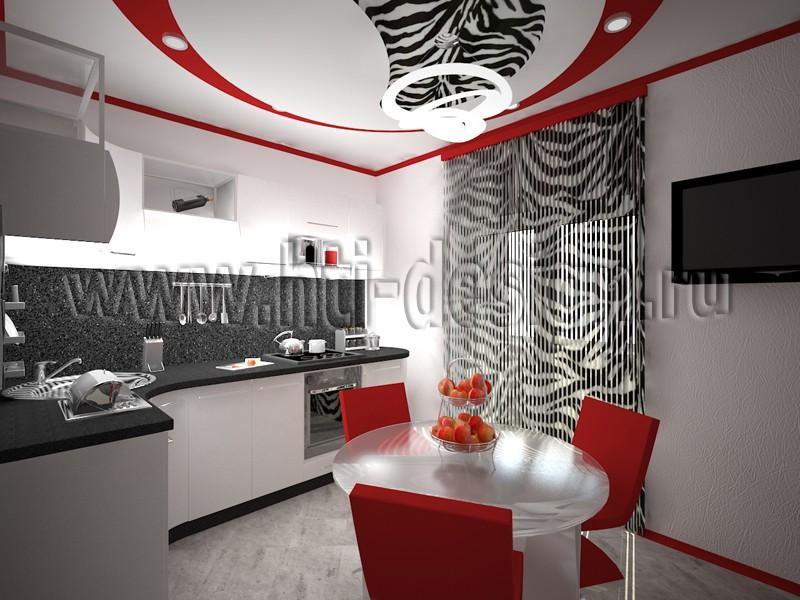 3d визуализация проекта Интерьер кухни в 3d max, рендер vray от Дизайн-лаборатория Hi-Tech Interior