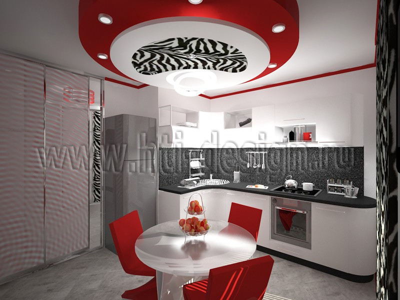 Kitchen Interior  in  3d max   vray  image
