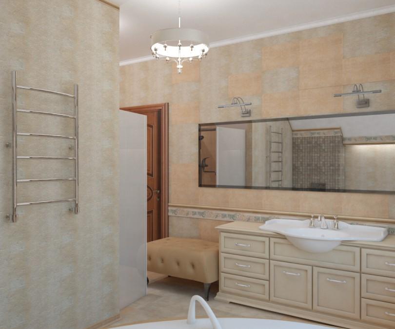 ванная комната Сартаково в 3d max vray изображение